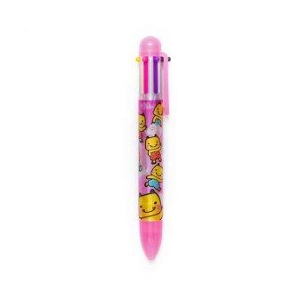 えちゴン 6色ボールペン ピンク・青
