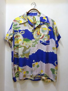 40's 和柄 ハワイアンシャツ