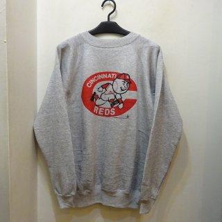 Dead Stock 90's Cincinnati Reds 染み込みプリント スウェットシャツ