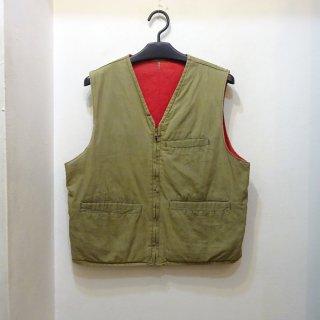50's Unknown Cotton Reversible Work Vest