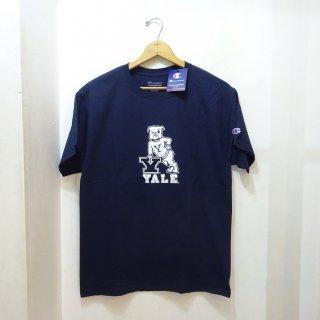新品 YALE University チャンピオンTシャツ ブルドック 両面プリント size M