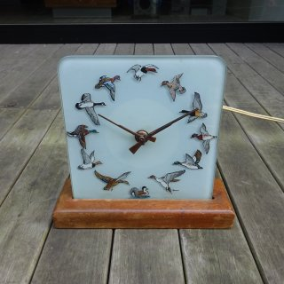 60/70's Duck Hunting Design Clock 置き時計