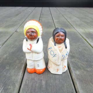 60's Indian Ceramic Salt & Pepper 日本製