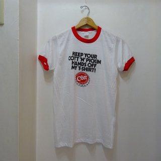 Dead Stock 80's Cott リンガーシャツ size M