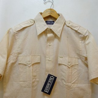 Dead Stock 80's LANDS' END インディアンマドラス サファリシャツ  size M
