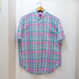 80's F.A. Mac Cluer Indian Madras B.D Shirts size L