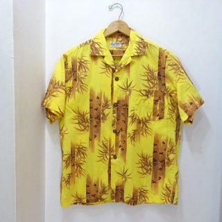 60's Guy Romo Bamboo Pattern Cotton Hawaiian Shirts size M