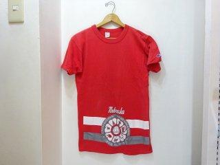 "80's Champion ""Nebraska University"" コットン100% カレッジTシャツ size M"