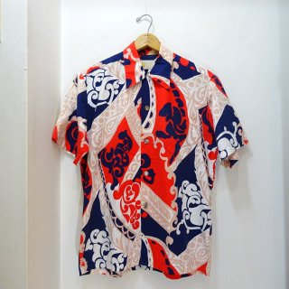 60's STAN HICKS Cotton Hawaiian Shirts size about L