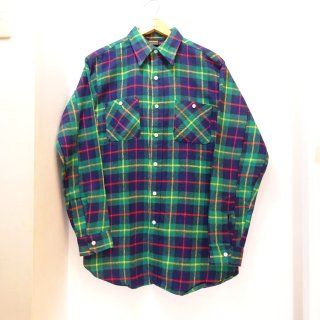 Dead Stock 70's BIG YANK Heavy Flannel Work Shirts size L