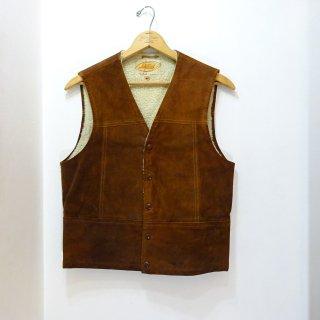 60's Lakeland Suede Boa Vest size 38