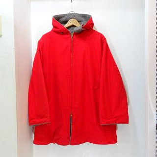 70's L.L.Bean Cotton × Wool Pile Reversible Hooded Coat size M