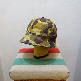 80's L.L.Bean Duckhunter Camo Duck Bucket Hat size M