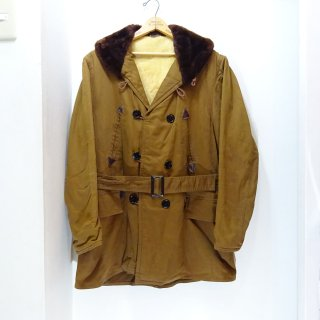 50's WINDWARD Shawl Collar Double Breasted Mouton Lining Mackinaw Coat size about 40