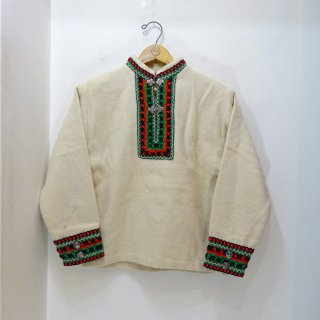 80's Lapp-Style Nordic Pullover Wool Jacket size XXS