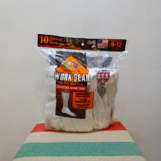 【US企画】 Fruit of the Loom Real Work Tube Socks 10Pcs Pack size US 6-12