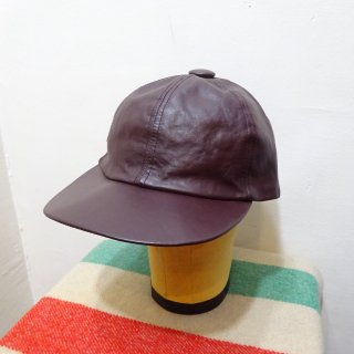 Dead Stock 80's Vintage Leather Cap size about 7 1/4