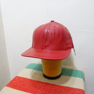 Dead Stock 80's Winner Leather Cap size 7 1/8