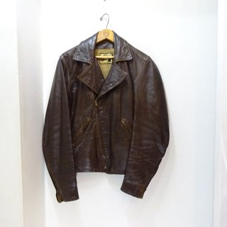 70's Vintage Double Riders Leather Jacket size about 38-40
