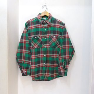 60's Winter King Heavy Flannel Work Shirts size about 15 - 32