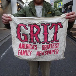 "50's ""GRIT"" Newspaper Bag"