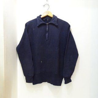50's Half Zip Sweat Shirts size about M