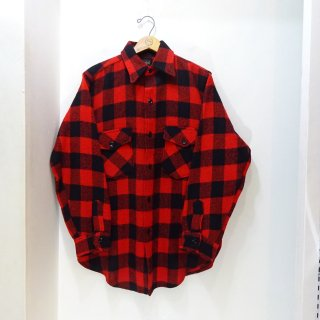 50's Drybak Buffalo Check Wool Shirts size about 15-32