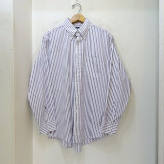 80/90's LANDS' END Candy Stripe Pin Oxford B.D Shirts size 16 - 33
