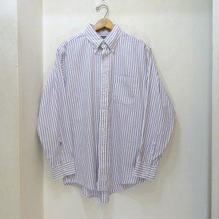 80/90's LANDS' END Candy Stripe Pin OxfordB.D Shirts size 16 - 33