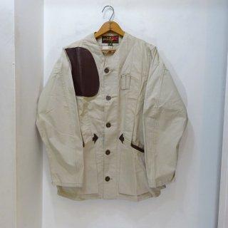 Dead Stock 70's 10-X Cotton Poplin × Leather Hunting Jacket size 38