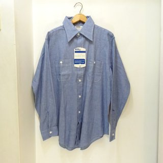 Dead Stock 70's Montgomery Ward Chambray Work Shirts size L
