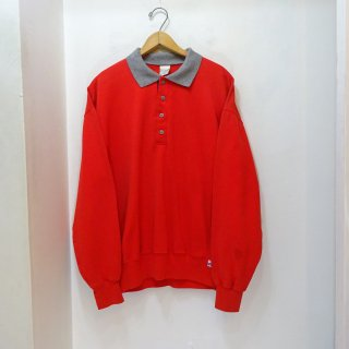 80's L.L.Bean by Russell Polo Collar Sweat Shirts size L