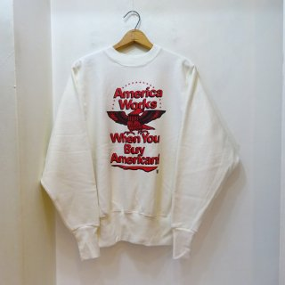 90's Windjammer Reverse Weave Printed Sweat Shirts size M