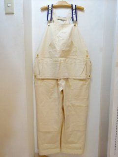 Dead Stock 60's Carter's Off-white Cotton Twill Overall size W48 L30