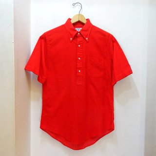 60/70's BERT PULITZER Red Oxford Pullover B.D Shirts size Boys 16 (about Mens S)