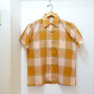 Dead Stock 70's McAllster Open Collar Shirts size M