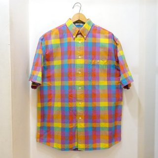 00's ORVIS Madras Cotton B.D Shirts size M