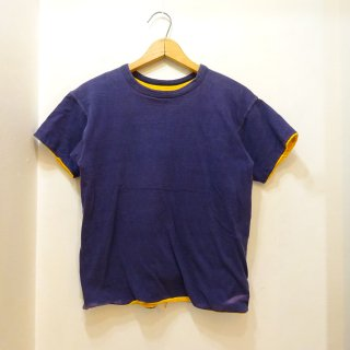 60's Champion Navy×Yellow Reversible Cotton T-Shirts size S
