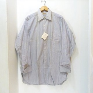 Dead Stock Early 50's Hathaway Cotton Stripe Shirts ダブルカフス
