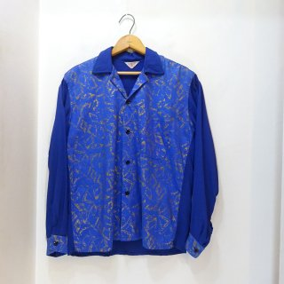 50's Cotton × Rayon Open Collar Shirts size S