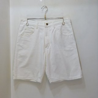 80's Wrangler White Denim Work Shorts size W33