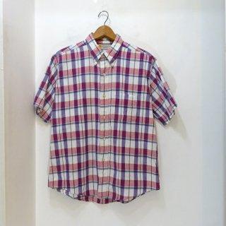 80's B.V.D Indian Madras B.D Shirts size L