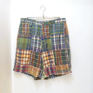 90's Ralph Lauren Indian Madras Patchwork Shorts W32