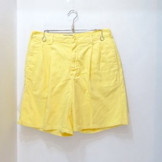 90's Ralph Lauren Yellow Cotton Twill Shorts Made in U.S.A W34 (実寸W32)