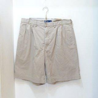 90's Ralph Lauren Khaki Chino Twill Shorts W36