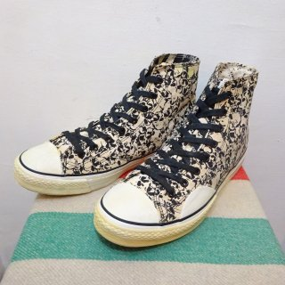 80's VISION Skull Pattern Canvas Sneaker size 11 1/2