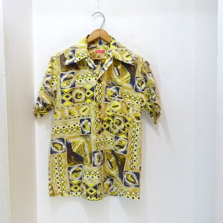 40's THE KAHARA Cotton Hawaiian Shirts size about M