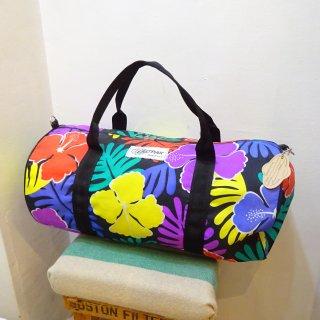 80's EAST-PAK Tropical Flower Pattern Nylon Boston Bag