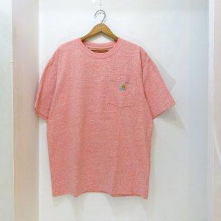 New Carhartt Heathered Pink Pocket T-Shirts size M