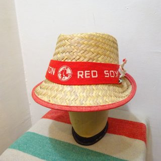 Dead Stock 〜1975y Boston Red Sox Straw Hat size M (about 7 1/4)